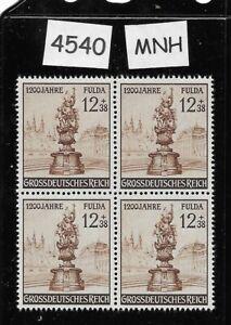 #4540    MNH stamp BLOCK / 1944 1200th anniversary city of Fulda Germany