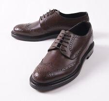 NIB $695 CANALI 1934 Medium Brown Calf Leather Wingtip Derby US 7 D Shoes