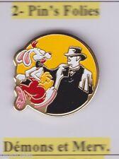 Pin's Folies * Demons & M. Kodak films Signed Disney Amblain Dick Tracy pin