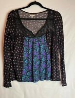 Urban Outfitters Ecote Women's Popover Blouse Size Small Floral
