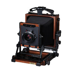 "New Shen-Hao HZX45-IIA 4X5"" Large Format Camera Black Walnut Wood Field Folding"