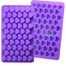55 Mini Hearts Silicone Cake Chocolate Candy Baking Mould Ice Cube Soap DIY Mold