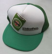 Vintage HEINEKEN Green White Trucker Hat Snap Back Cap One Size Beer Can  Retro 06b59525e7f2