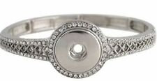 Silver Rhinestone 18-20mm Snap Charm Bracelet for Ginger Snaps Magnolia Vine