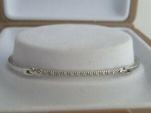 Bracelet Tennis Articulé en Or Blanc 18K 750 Orné d'une Ligne de Diamants