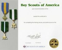 BOY SCOUT OFFICIAL ADULT LEADERSHIP GOLD SEAL TRAINING AWARD CERTIFICATE 8.5x10""