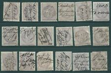 GB 1850's Queen Victoria Inland Revenue stamp group for study