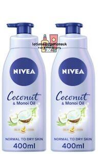 Nivea COCONUT & MONOI OIL Body Oil In Lotion 400ml - 2 Pack