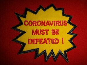 Global Pandemic CORONAV!RUS MUST BE DEFEATED! Patch New, Never Worn