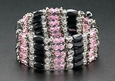 Magnetic Bracelet Hematite Bead Necklace Wrap Pink Crystal Mothers Day Gifts