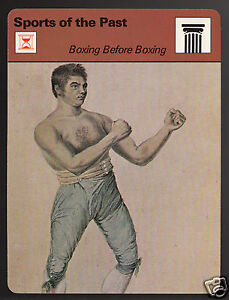 JOHN GULLY Early Boxing History Bareknuckle Champion 1977 SPORTSCASTER CARD 1309