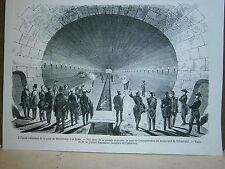 Gravure 19° Inauguration de l'égout collecteur de la gare de Srasbourg à Paris