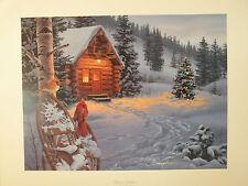 """Darrell Bush Cardinal Print """"WINTER COLORS"""" Signed (Cardinals Print)"""