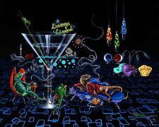"Michael Godard-""LOUNGE LIZARD"" Martini-Las Vegas-Retro-Limited Edition Art-RARE"
