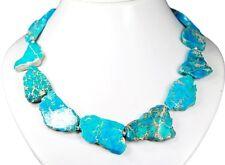 Wunderschöne Meeressediment Jaspis Kette unreglmäßige Form