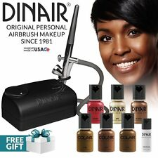 Dinair Airbrush Makeup Starter Kit | Dark SHADES | Foundation Set + More!
