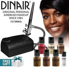 Dinair Airbrush Makeup Starter Kit   Dark SHADES   Foundation Set + More!