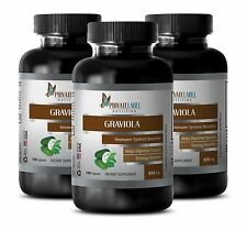 Guyabano Soursop - GRAVIOLA 650mg - Fat Burner For Men - 3B