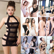 Women Sexy-Lingerie Nightwear Sleepwear Dress Babydoll Lace Elastic Underwear