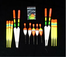 15pcs in 1 vertical buoy fishing floats 8cm to 15cm