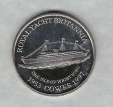 More details for 1997 isle of wight yacht britannia euro crown in mint condition + capsule