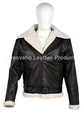 Men's Rocky IV Style Dark Brown Cow-Hide Real Leather Bomber Flying Jacket