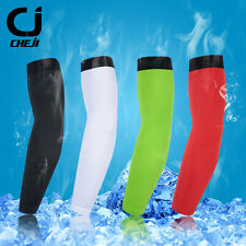 CHEJI Cycling Arm Sleeves Unisex Running Biking Arm Warmers UV Sun Sleeves