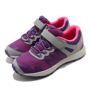 Merrell Nova 2 Grey Purple Pink Kid Preschool Trail Running Shoes MK164725