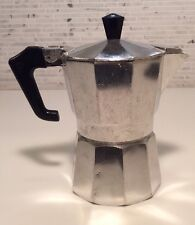 Pezz Etti Italian Coffee Cafe Espresso Maker Stove Top Vintage Italy 4 Oz.