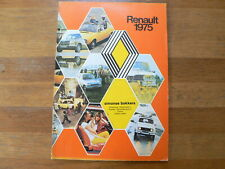 RENAULT 1975 BOOK WITH ALL MODELS,RODEO,4,5,6,12,15,16,17, ALPINE,ESTAFETTE,COMB