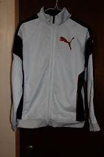 Puma Boys Youth White with Black Stripe Jacket Size Large Youth