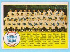 Original 1958 Detroit Tigers team card (alpha) unmarked/Topps baseball cards#397