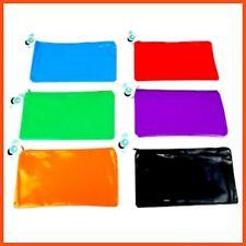 12 x ZIPPER PEN CASE Pencil Organiser Storage School Travel Office Bag 6 Colours