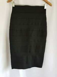 FOREVER NEW, SIZE 8, BLACK, ZIP BACK, STRETCH BODYCON SKIRT