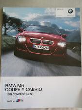BMW M6 Coupe & M6 Convertible range brochure 2009 Ed 2 Spanish text