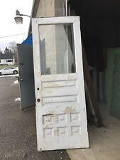 Cm 278 antique beveled glass half view entrance door 36 x 95.5