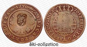 1 Macuta 1770 Africa Portugueza (Angola) Colonies Portugaises. Cuivre. 33,1 Gr