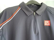 Uniqlo Novak Djokovic Blu scuro, French Open 2012 Polo, RARE,