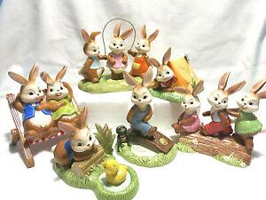 Goebel Hase Osterhase heute wird gezeltet Naturfreunde  Häschen hüpf