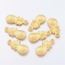 BULK Charms Pineapple Charms Gold Fruit Charms Wholesale Charms 50pcs