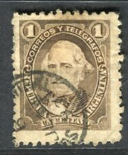 ARGENTINA; 1888 early Portrait issue fine used 1c. value