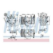 Fits Mini One D Clubman R55 1.6 Genuine Nissens A/C Air Con Compressor