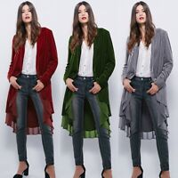Thick Velvet Women's Chilly Cold Weather Wrap Cardigan Jacket Outwear Coat US