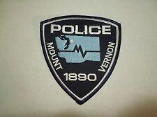 Vintage Mount Vernon Police Washington State Est 1890 Iron On Embroidered Patch