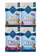 Blue Pack of 4 Buffalo Treats Bits Dog Treats Pouches, 4 Flavors