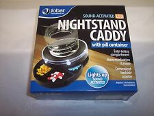 Jobar Sound-Activated Nightstand Caddy with Pill Container