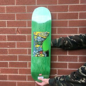 """SWEET SKATEBOARDS - POOL GRAPHIC GREEN STAIN 8.00"""" INCH NEW FREE POSTAGE GRIP"""