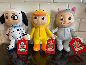 "Cocomelon JJ Plush Set - Duckie + Kitty + Puppy - 8"" Plush Dolls - Set of 3"