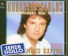"""ROBERTO CARLOS """" LAS CANCIONES QUE YO AMO - 40 GRANDES EXITOS """" 2 CD NUOVO 1995"""