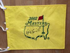 Vijay VJ SINGH SIGNED AUTOGRAPH 2002 Golf Flag Masters AFTAL COA